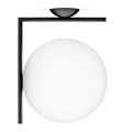 светильник потолочный IC Flos Wall 2 большой черный