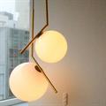 Светильник Flos IC Lighting S2 золото белый шар на ножке
