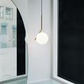 Светильник Flos IC Lighting S2 круглый белый плафон на золотой штанге