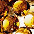 Лампа настольная Foscarini Caboche Gold D50 янтарные полусферы