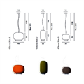 Светильник Forcarini Chouchin 22  Ionna Vautrin схема и размеры