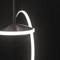 Светильник крона плоский диск хром  Graypants D40 в темноте
