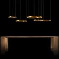 Люстра Henge Light Ring Horizontal D80 медная в интерьере