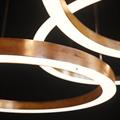 Люстра светодиодное медное кольцо Henge Light Ring D80 Copper