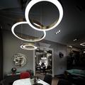 Люстра светящееся кольцо Henge Light Ring Horizontal D50 бронза в интерьере