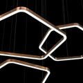 Светильник Хендж многоугольный Henge Light Ring Horizontal Polygonal D40 медный
