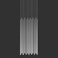Светильник Вибия Слим 13 белый прямоугольное основание на сером фоне