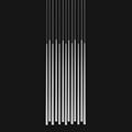 Светильник Вибия Слим 13 белый прямоугольное основание на темном фоне