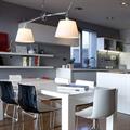 Потолочный светильник Artemide Tolomeo 2 плафона на кухне