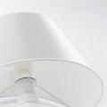 Лампа настольная Титаник белая погружена наполовину в стол