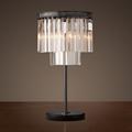 Лампа настольная лофт Odeon Clear Glass Table Lamp