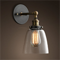 Светильник настенный Loft Clear Glass Cloche