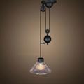 Светильник подвесной лофт с противовесом в виде шара  Cone Pendant Glass