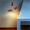 Светильник керамика натуральный цвет Pleat Box Brown 24