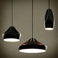 Светильник керамика черный Pleat Box 24
