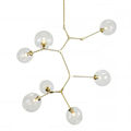 Люстра Branching Bubbles 7 Vertical Gold - фото 26371