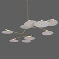 Люстра подвесная Branching Disc 9 Gold - фото 26428