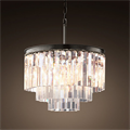 Люстра Odeon Clear Glass Hanging Chandelier 3 Rings - фото 26648