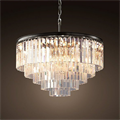 Люстра Odeon Clear Glass Hanging Chandelier 5 Rings - фото 26649