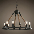 Люстра Loft Chandelier Old Castle Rope 6 - фото 26687