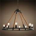 Люстра Loft Chandelier Old Castle Rope 8 - фото 26690