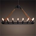 Люстра Loft Chandelier Old Castle Rope Line 16 - фото 26698