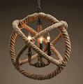 Люстра Loft Gyro Hemp Rope Sphere 60 - фото 26711