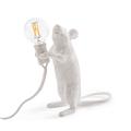 Настольная Лампа Мышь Mouse Lamp #1  H15 см Белая - фото 26905