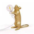 Настольная Лампа Мышь Mouse Lamp #1  H15 см Золотая - фото 26910