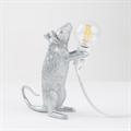 Настольная Лампа Мышь Mouse Lamp #1 в стиле Seletti H15 см Серебро - фото 26914