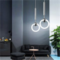 Светильник Ring Light хром Lee Broom в интерьере
