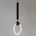 Светильник Ring Light светодиодное кольцо продетое через черный шар