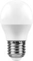 Лампа светодиодная Feron LB-750 Шарик E27 11W 2700K - фото 27302
