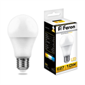 Лампа светодиодная Feron LB-92 Шар E27 10W 2700K - фото 27311