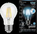 Лампа светодиодная Gauss LED Filament A60 E27 10W 970lm 4100К step dimmable 1/10/40 - фото 27322