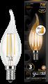 Лампа светодиодная Gauss LED Filament Свеча на ветру E14 7W 550lm 2700K step dimmable 1/10/50 - фото 27325