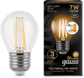 Лампа светодиодная Gauss LED Filament Шар E27 7W 550lm 2700K step dimmable 1/10/50 - фото 27330